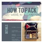 How-to: koffer inpakken