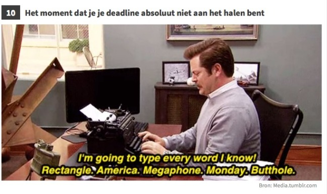 10. Deadline via upcoming.nl