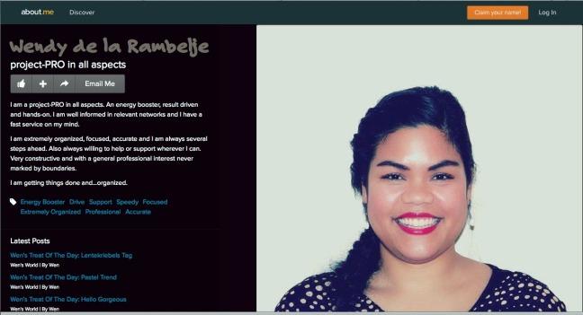 About.me (c) W.H. de la Rambelje